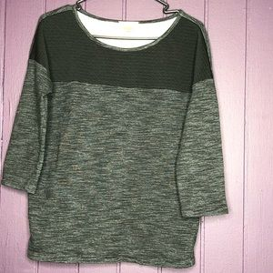 Loft Gray and Black Top size Small